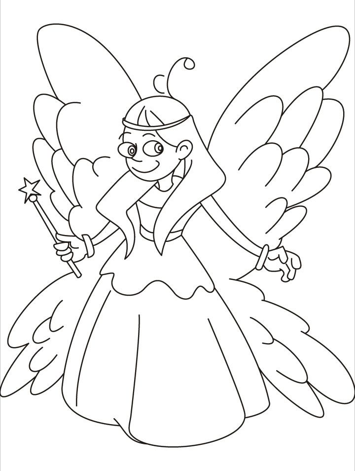 fairy coloring pages for kids coloring home