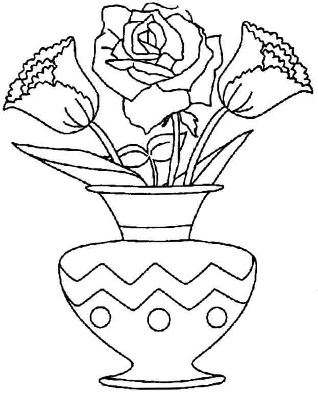 Coloring Pages Flowers Bouquet : Flower Bouquet Coloring Pages Coloring Home