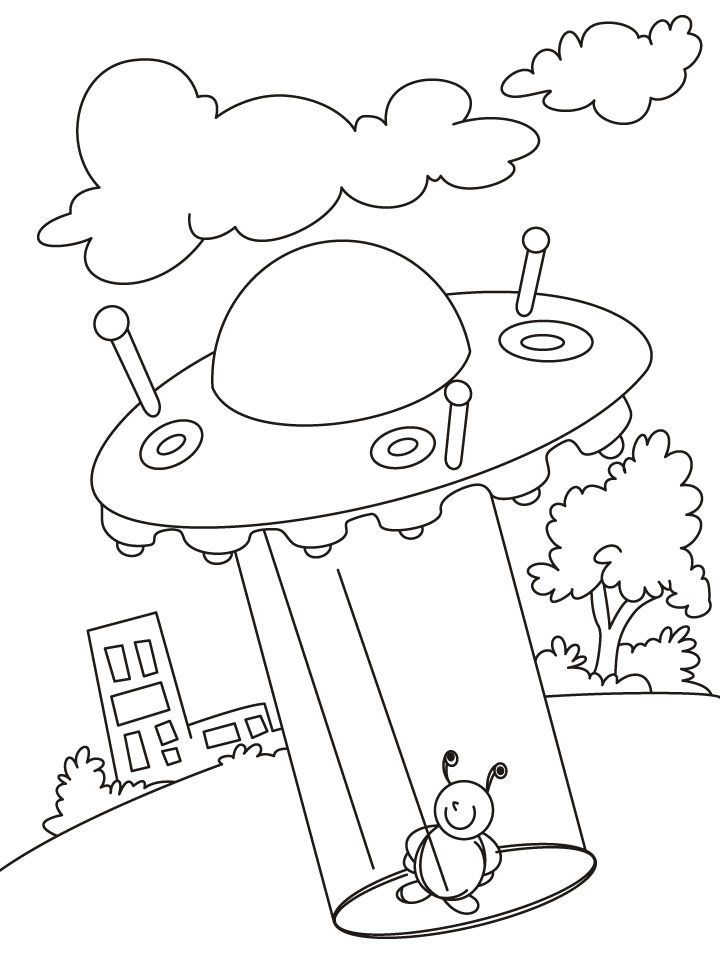 Ufo Coloring Pages Coloring Home
