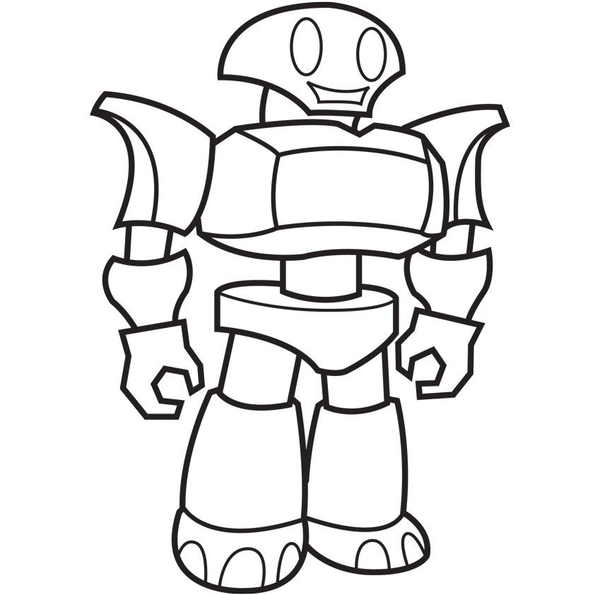 Robot Coloring Page Homerhcoloringhome: Colouring In Pages Printable Robot At Baymontmadison.com