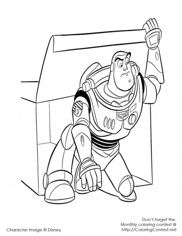 Buzz lightyear flying coloring pages