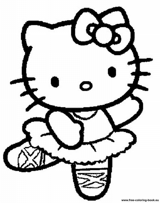 hello little kitty coloring pages - photo#8