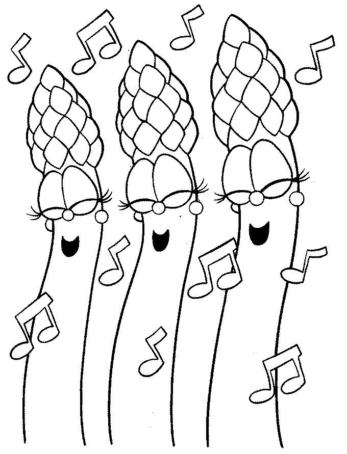 Veggietales characters coloring pages for Veggie tales coloring pages