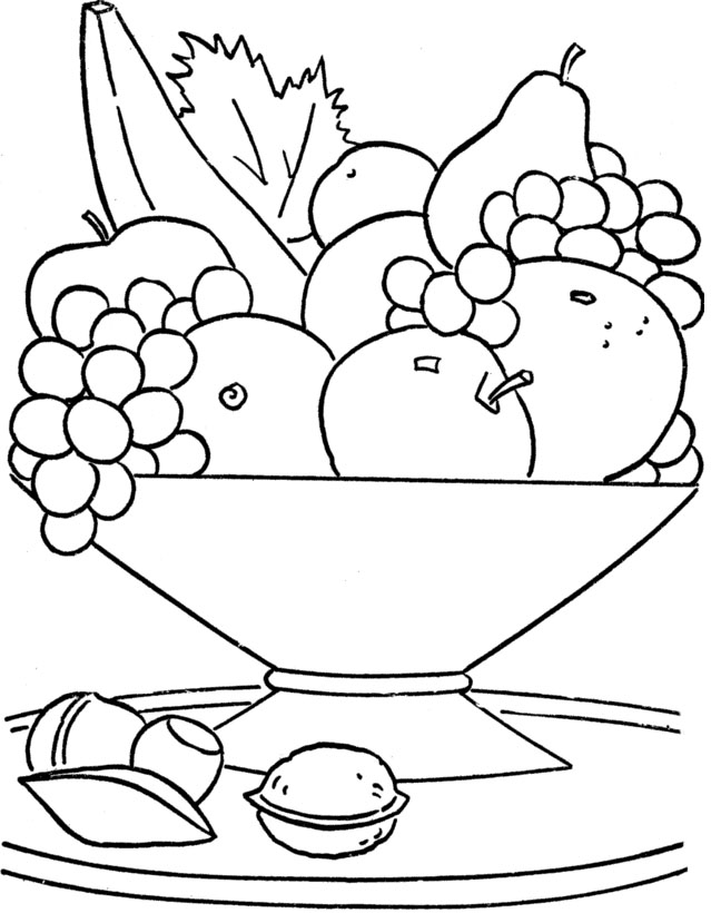 fruit coloring pages free - photo#16