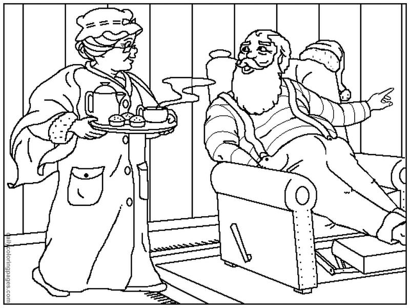 Santa claus coloring page az coloring pages for Santa and mrs claus coloring pages