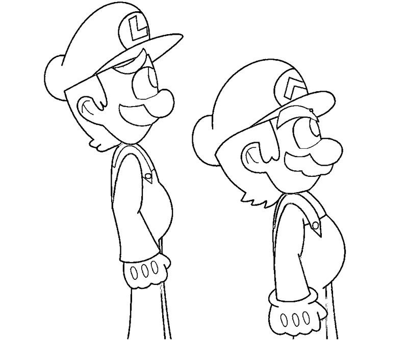 Luigi coloring coloring home for Luigi s mansion coloring pages