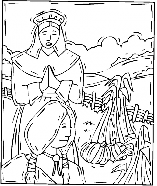 Native American Coloring Pages For Adults Thanksgiving