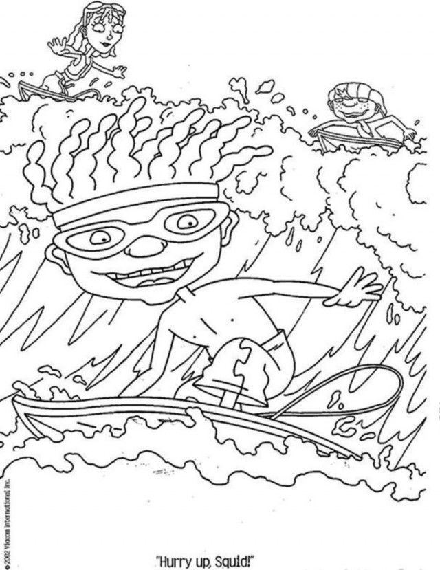 Hawaii coloring pages coloring home for Rocket power coloring pages