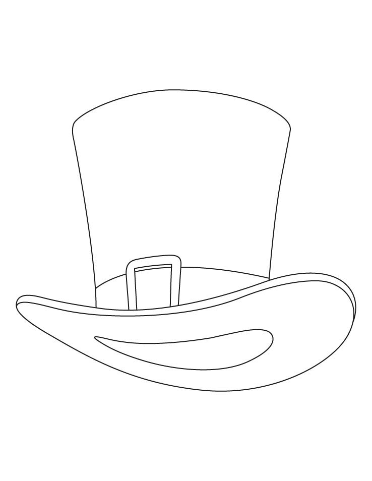 tophat coloring pages - photo#4