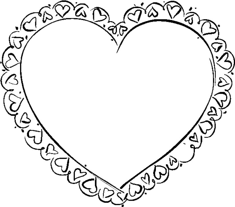 Heart coloring pages for kids az coloring pages for Candy heart coloring pages