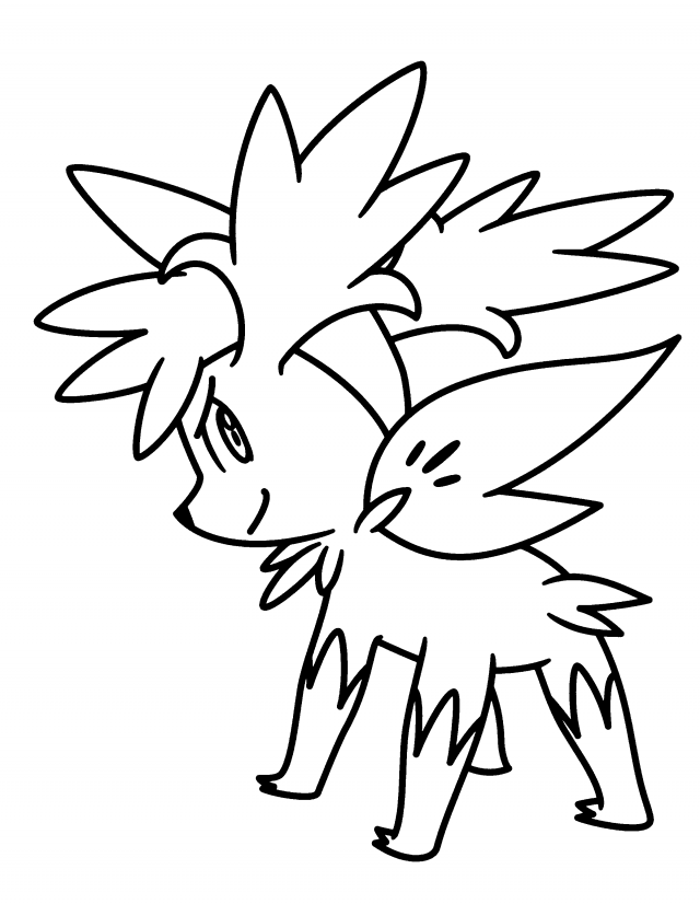 Shaymin Sky Form Coloring Pages Az Coloring Pages Shaymin Coloring Pages