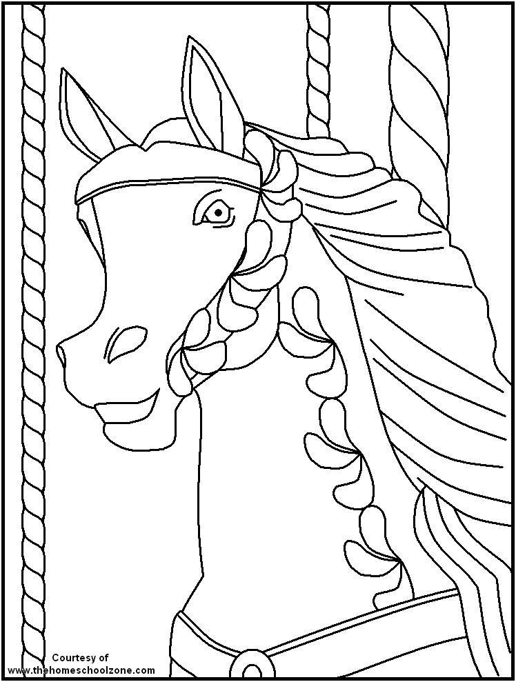 carnival coloring book pages - photo#47