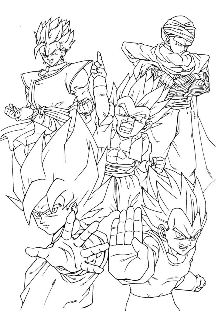 Dragon ball coloring pages az coloring pages for Dbz coloring pages online