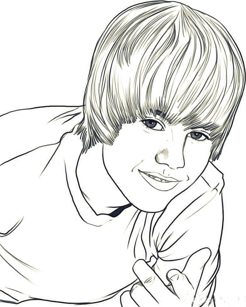 Justin Bieber Coloring Pages To Print - Free Printable Coloring