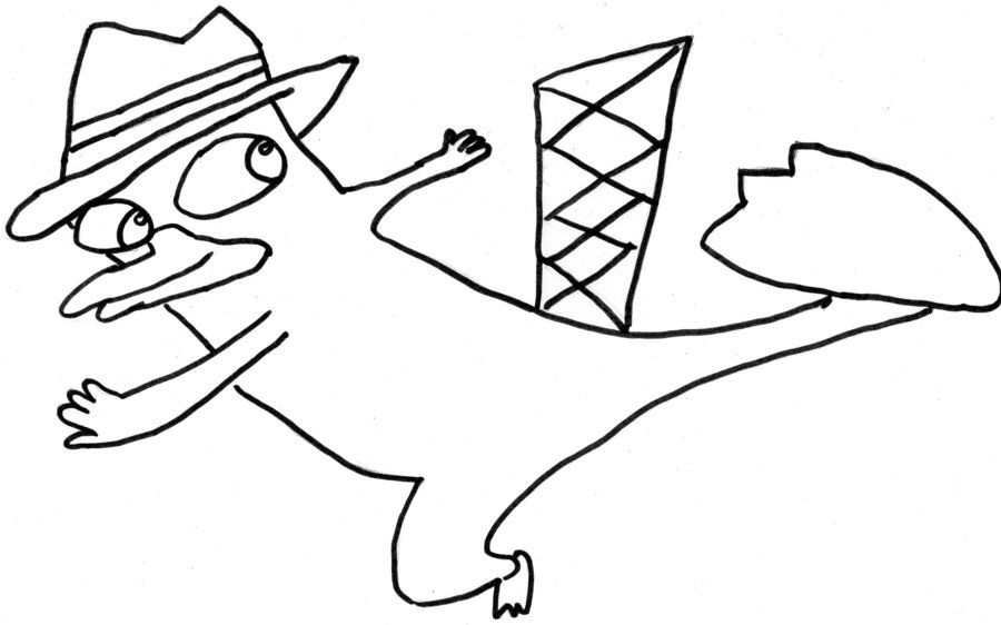 perry the platypus coloring pages - photo#20