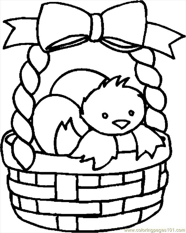 Basket Coloring Page Coloring Pages Easter Basket