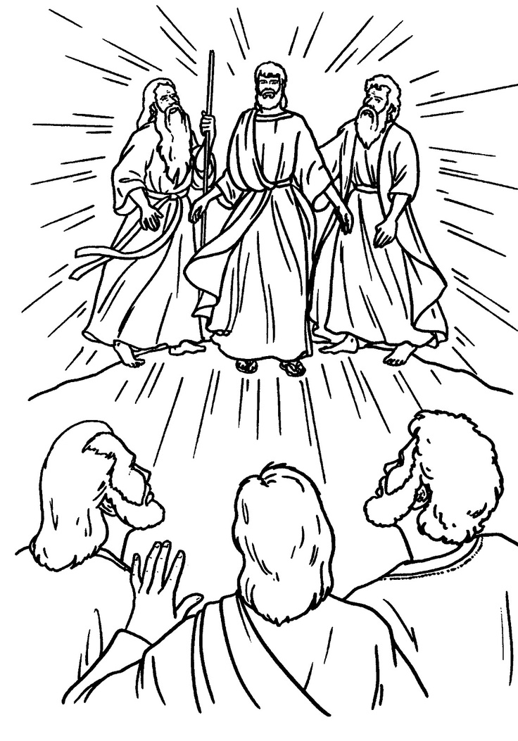 jesuss transfiguration coloring pages - photo#6