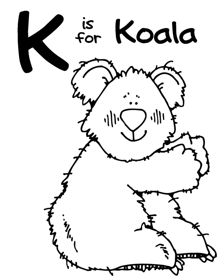 K Is For Koala Coloring Page Koala Coloring Pages  Clipart