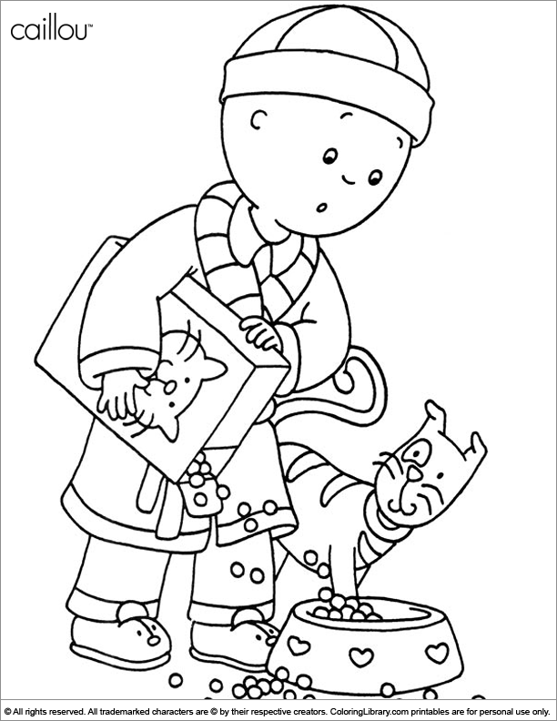 Caillou coloring pages in the Coloring Library