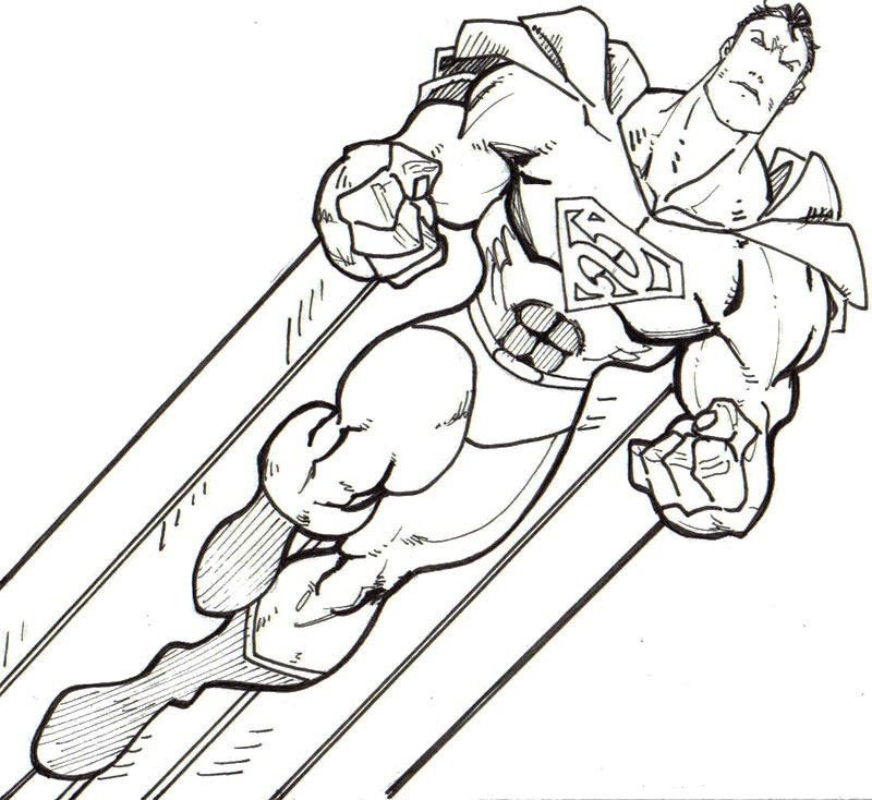 superman color pages az coloring pages
