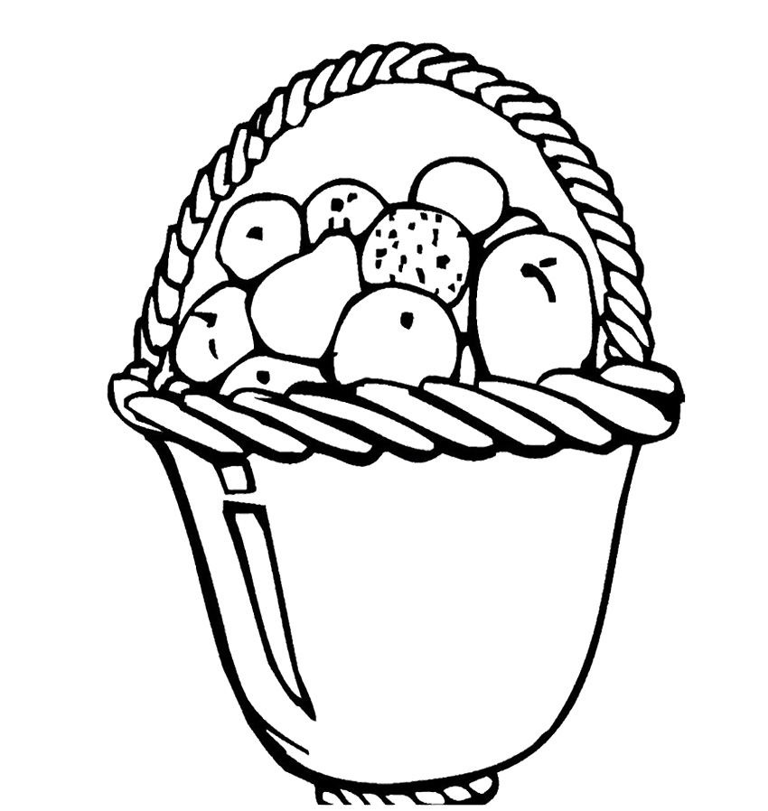 Fruit Basket Coloring Page AZ