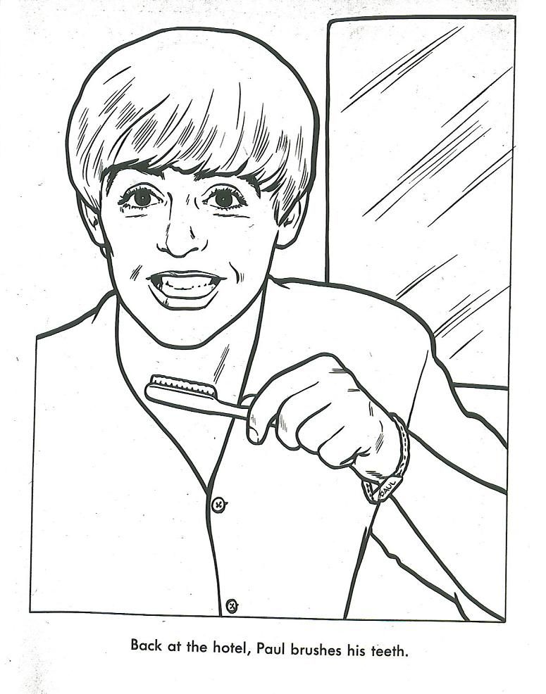 Pages From The Original, Official 1964 Beatles Coloring Book! - Coloring  Home