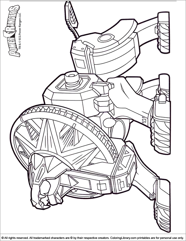 Power Rangers Coloring Book Coloring Home Power Rangers Megazord Coloring Pages