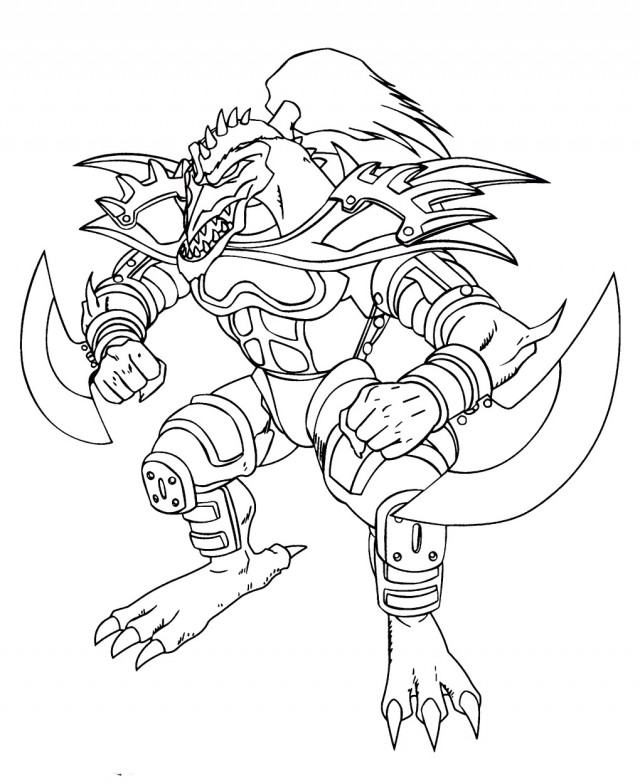 yugioh monsters coloring pages free - photo#18
