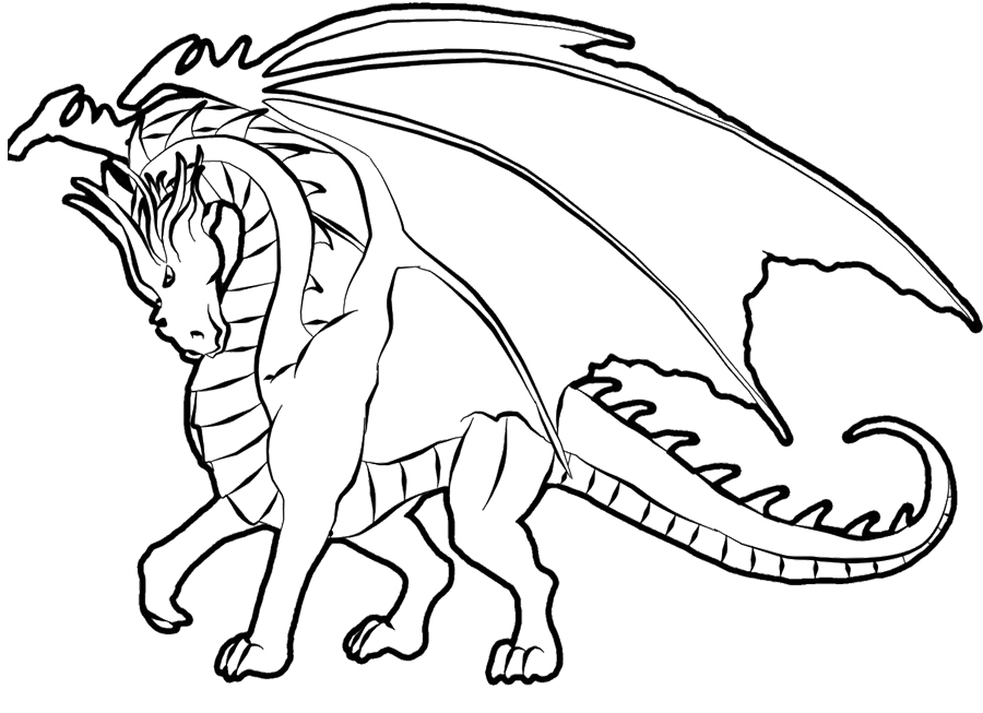 Coloring Pages Dragons : Realistic dragon coloring pages az