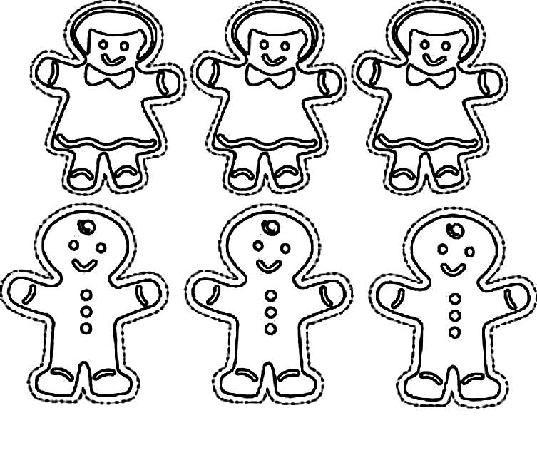 Gingerbread Men Coloring Pages