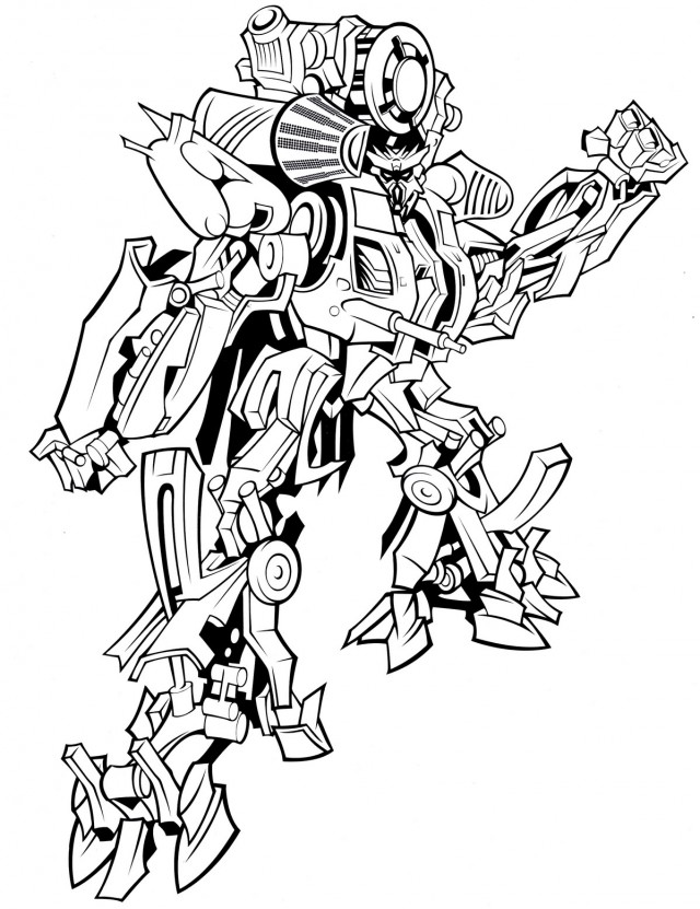 Bumblebee Trans Mer Coloring Pages #1