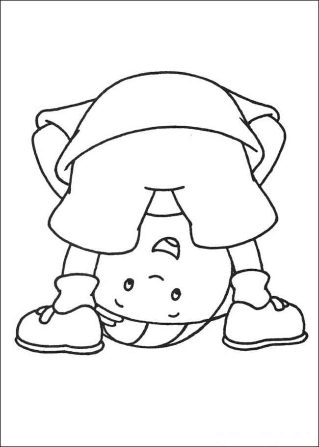 Caillou Coloring Pages Online - Picture 11 – Free Printable