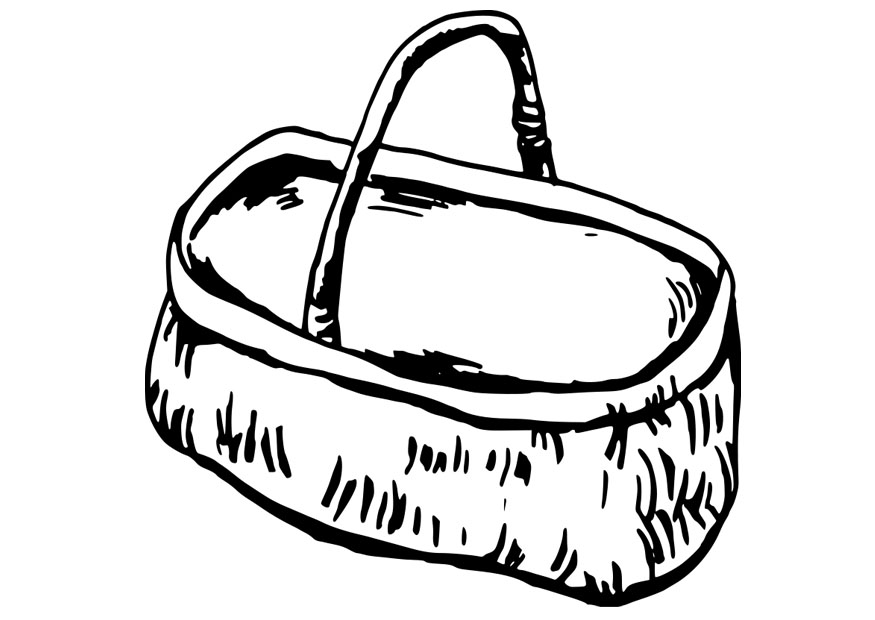 Basket Coloring Page Basket Coloring Page