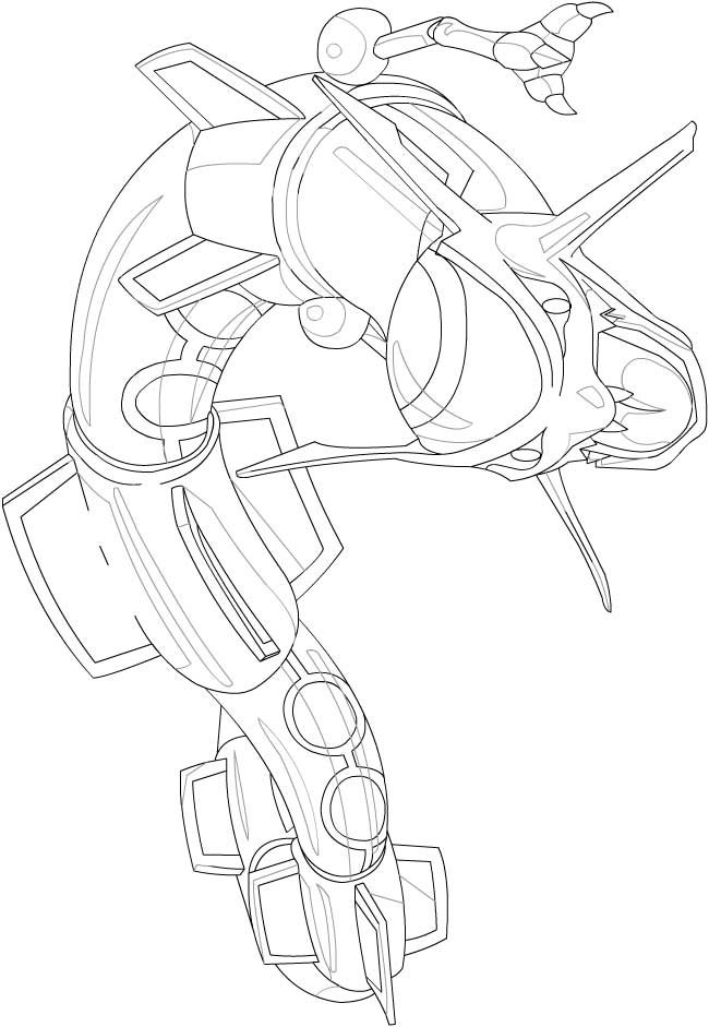 Pokemon Rayquaza Coloring Pages | Alfa Coloring PagesAlfa Coloring