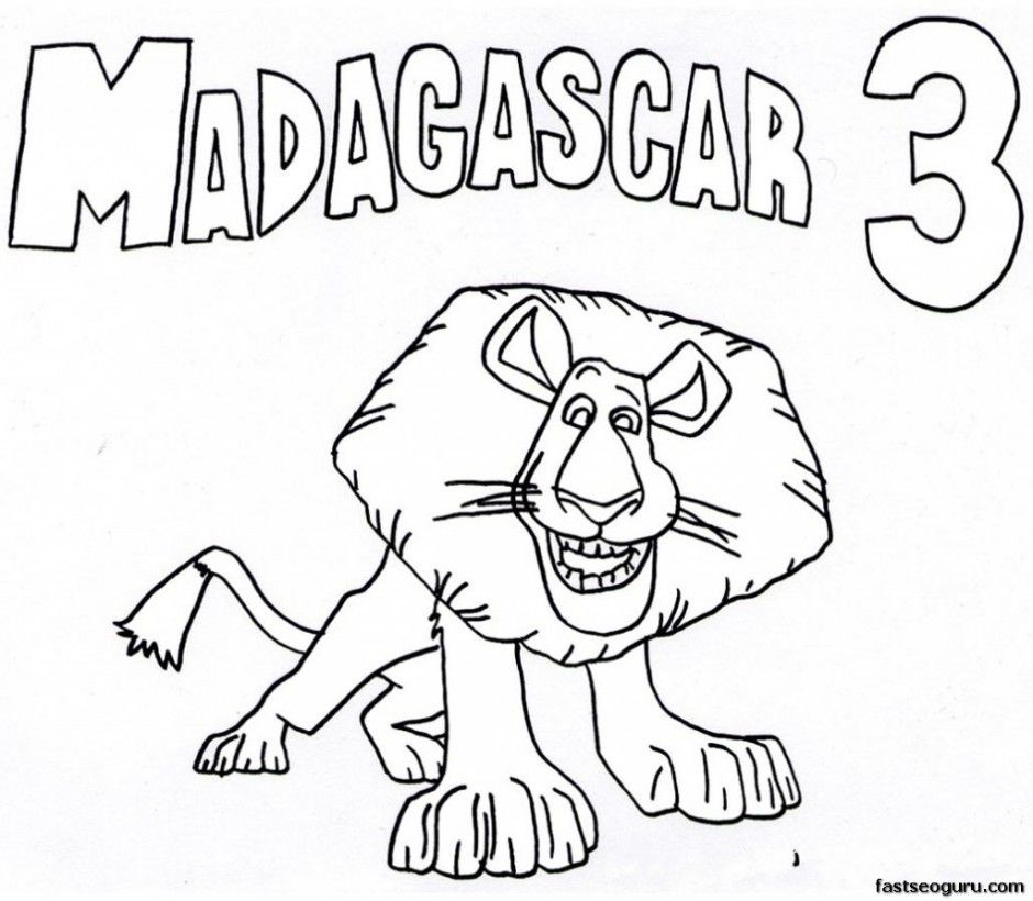 Gloria Alex King Julienne And Mort In Madagascar Coloring