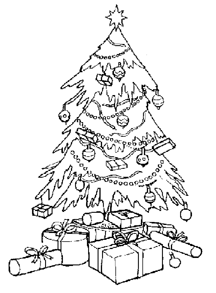 christmas tree for coloring free coloring pages - Coloring Christmas Tree