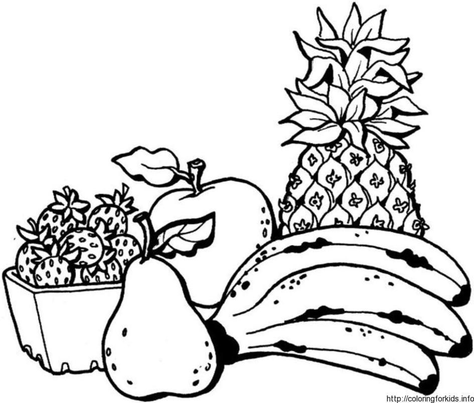 fruit Coloring Pages To Print - ColoringforKids.info