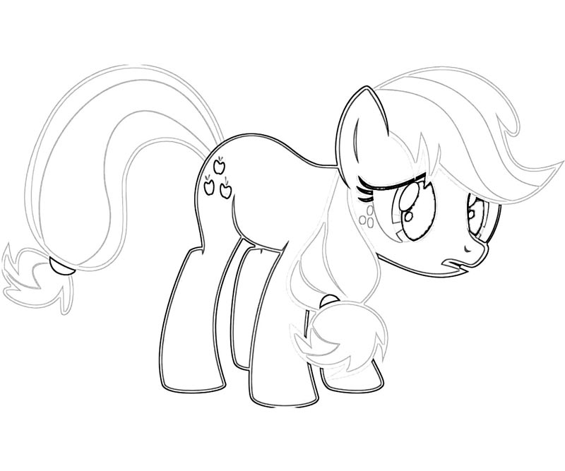 Applejack coloring page coloring home for Applejack coloring page