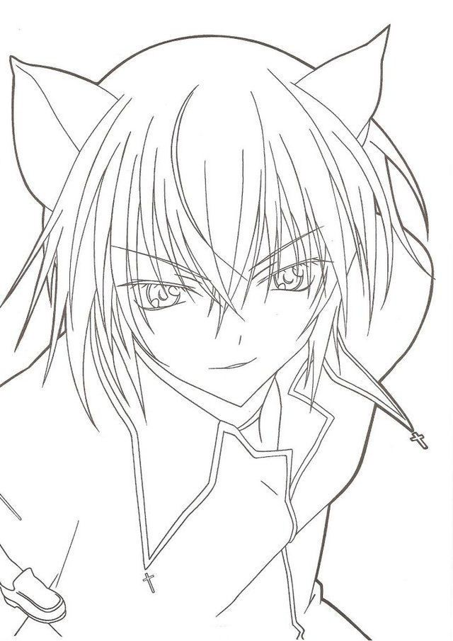 Anime Boy Coloring Pages Coloring Home Anime Boy Coloring Pages