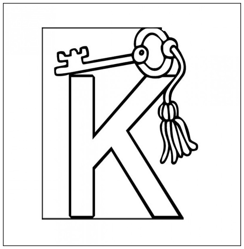 Coloring Pages Key : Coloring page of a key az pages