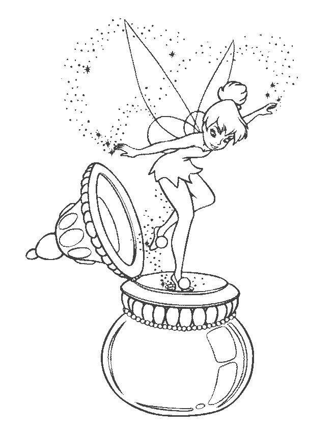 peter pan and tinkerbell coloring pages - peter pan drawings coloring home