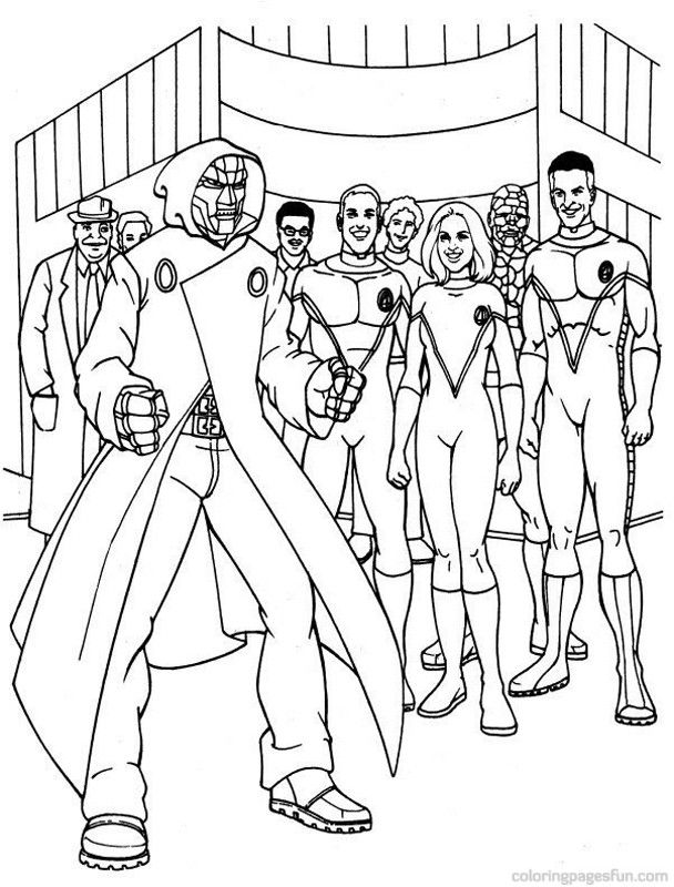Fantastic Four Coloring Pages Free | Drawings, Pencil drawings, Comic book  artists | 800x608
