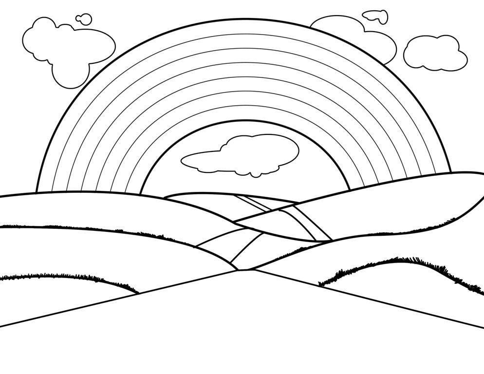 HD wallpapers rainbow coloring page pdf