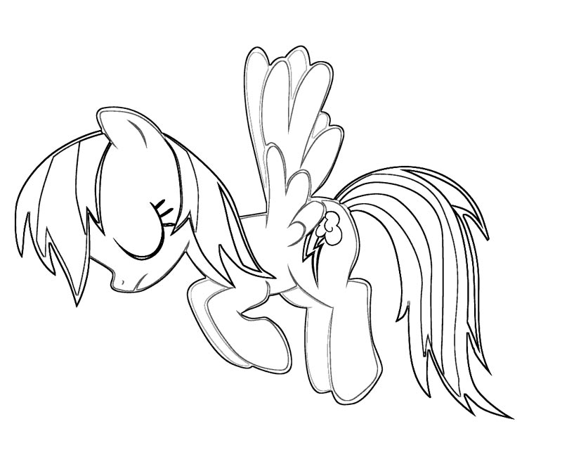 Coloring Pages Of Rainbow Dash Coloring Home