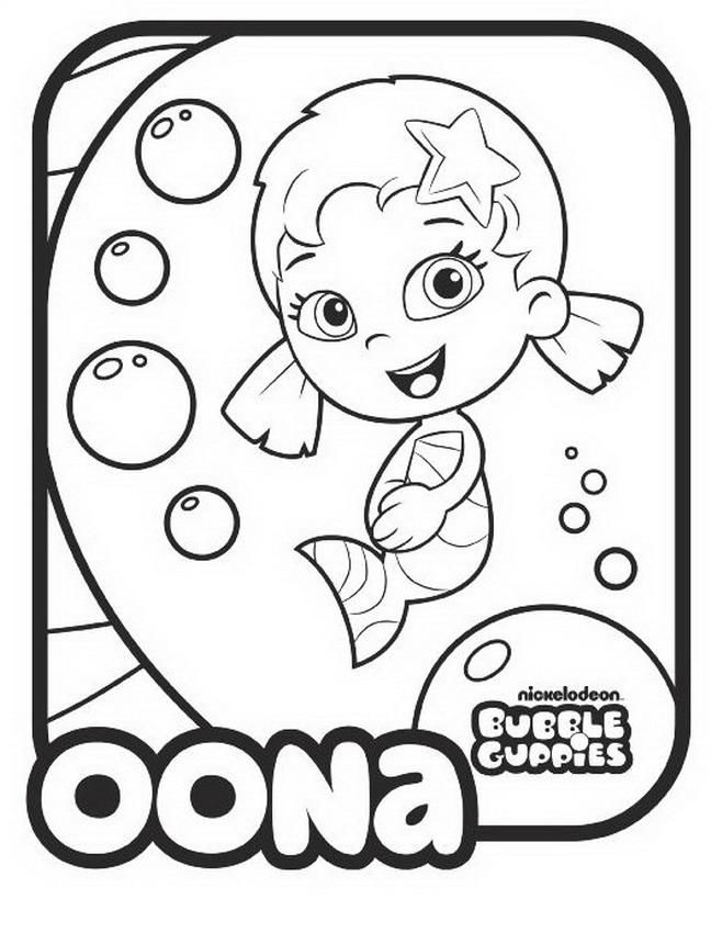 bubble guppies drawings oona coloring child coloring