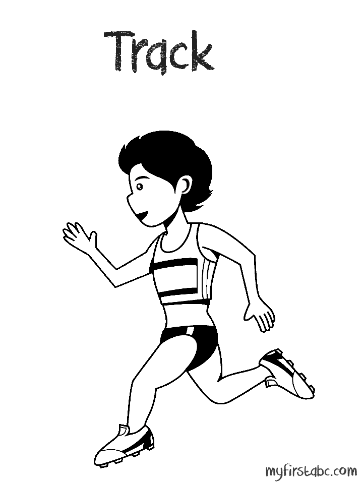 Track and field coloring pages coloring home for Track coloring pages