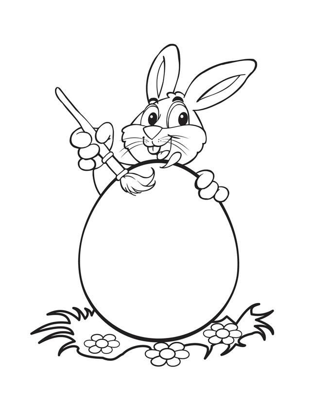 Free Easter Bunny Coloring Pages Coloring Home