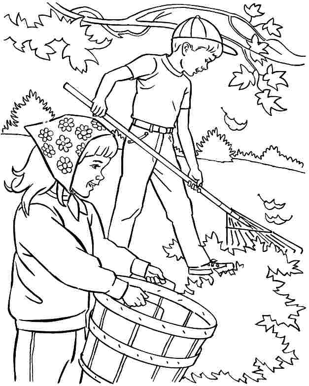 Coloring Pages For Preschoolers Fall : Free preschool fall coloring pages