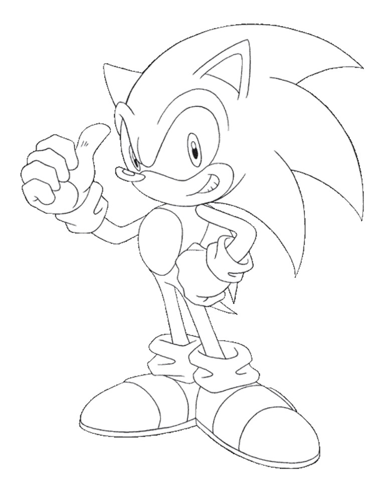 Printable Sonic Coloring Pages for Kids