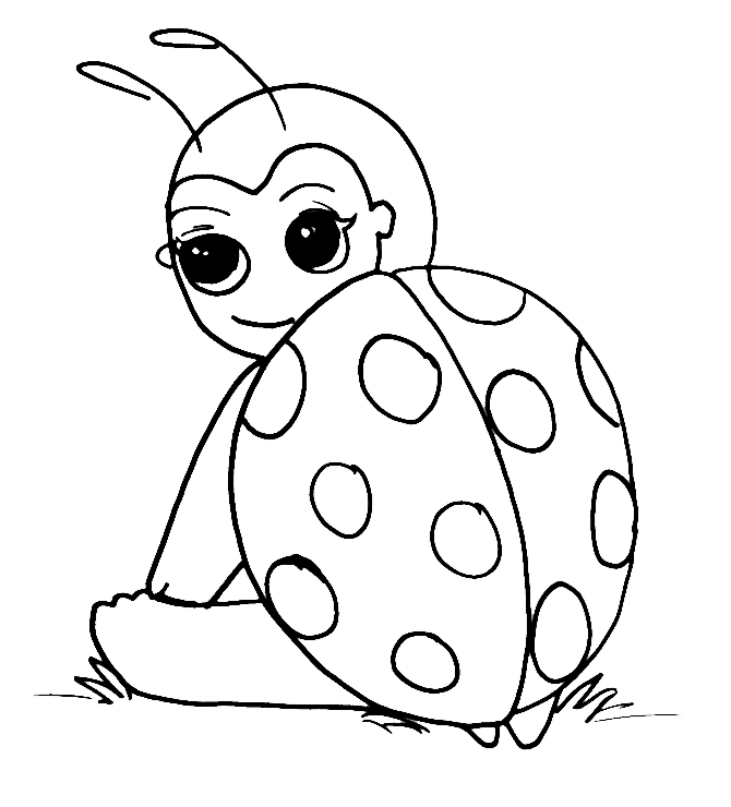 Free Coloring Pages Of Grouchy Lady Bug